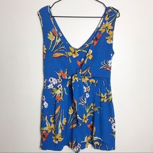 BAND OF GYPSIES- Floral Tie Front Romper